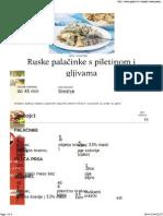 Ruske Palacinke s Piletinom i Gljivama
