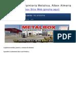 Metalbox – Carpinteria Metalica, Albox Almeria - Almería - Especialistas en Puertas y Ventanas de aluminio