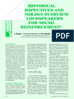 Historical Perspectives and Technology Overview of Loudspeakers for Sound Reinforcement (J. Eargle)