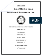 Protection of Children in International Humanitarian Law