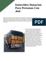 <h1>Llega A Montevideo Donacion Noruega Para Personas Con Discapacidad</h1>