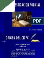 Presentacion de Origen Del Cicpc