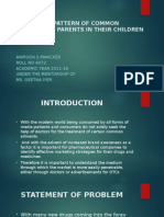 Treatment Pattern of Common Ailments by Parents In