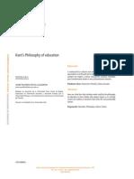 Reyes, J.-filosofía de La Educación en Kant (Rev. Silogismo No. 14, 2014)