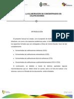 Manual de Concentrados de Calificaciones UPAV