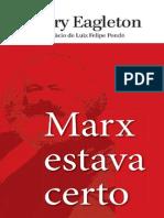 Marx Estava Certo - Terry Eagleton