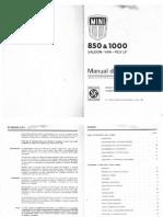 Manual Condutor 850 1000