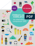 Mobile Phone Usage Among Children by GSMA