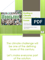 Hosting a Climate Communication Forum