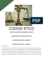 CODIGO ETICO DE LOS LICENCIADOS  EN MERCADOTECNIA DE LA UNIVERSIDAD SABES