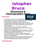 Bruce Movement and Choreograpic