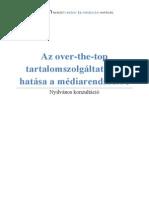 Nmhh Ott Hatasa a Mediarendszerre Nyilvanos Konzultacio 2014(1)