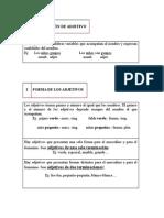 Adjetivo y Objeto directo e indirecto