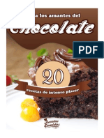 20 Recetas Con Chocolate