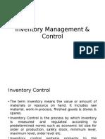 #Inventory Management & Control