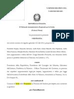 Portobello Cutino Riso Giucastro Ricorso Scioglimento 470 2013 Tar Lazio 2989 2013 24 Aprile 2013