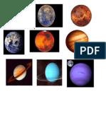 Sistema Solar, documento de Word para la escuela