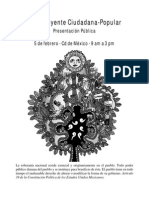 Documento de Presentación de La Constituyente Ciudadana Popular 5 Feb 2015