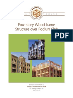 Woodworks Design Example - Four-story Wood-frame Structure Over Podium Slab