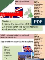 lesson 10 + 11 British culture ideas