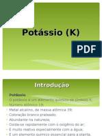 Potássio - apresentação