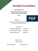 Evaluacion Del Crecimiento y Desarrollo de La Ixora Coccinea y La Anacardium Excelsum