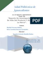 Reporte Ciclo de Vida y Etapas de La Marca