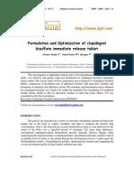 Formulation and Optimization of Clopidogrel IR Tabs
