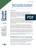 Comparação de Requisitos Para a Gestão de 17025 X BPL-035