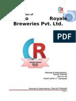 Casino Royale Breweries Pv Ltd. -Ravish