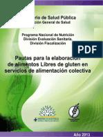 Pautas Elaboracion Alimentos Libre Gluten