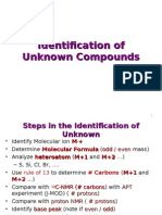 Identification of Unknown Compounds