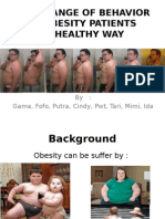 The Change of Behavior on Obesity Patients