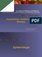 Epidemiologia y Etiologia Esquizofrenia