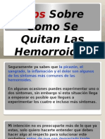 Tips Como Se Quitan Las Hemorroides