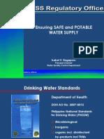 Ensuring Safe Water Oct2014