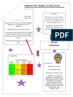 classroom management plan tangible