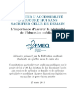 FMEQ - Mémoire - Projet de Loi 20