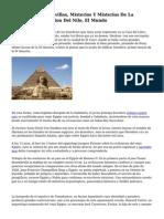 Viaje Por Las Maravillas, Misterios Y Misterios De La Milenaria Civilizacion Del Nilo, El Mundo