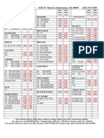 hardwood Price List