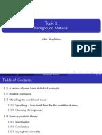 Econometrics Notes