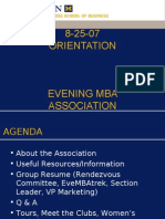 Ross School of Business - Evening MBA - Fall 2007 Orientation