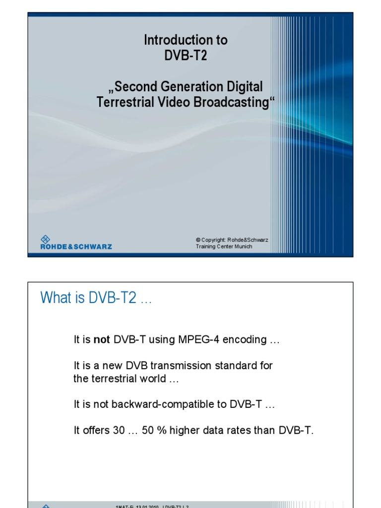 Introduction to DVB-T2 | Forward Error Correction | Orthogonal Frequency  Division Multiplexing