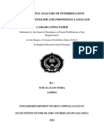 Contrastive Analysis of Interrogative Sentences in English and Indonesian Language-stain Salatiga