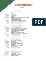 Ejemplo de Catalogo de Cuentas en numérico decimal