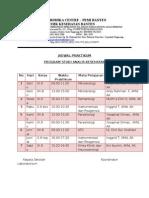 Jadwal Praktikum terbaru