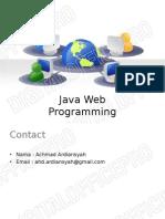 Java Web Programming_1-Pengenalan
