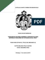 Tesis Sobre Protocolo Familiar y Sucesion