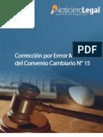Corrección Convenio Cambiario N° 15