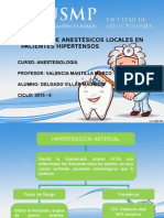 Anestesicos Locales Para Paciente Con HTA